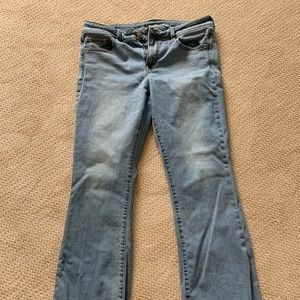 American Eagle light wash kick boot jeans